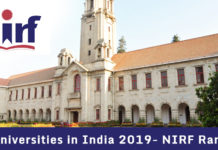 Top Universities in India 2019- NIRF Ranking